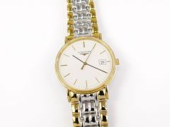 Longines Présence White with 18k Gold L4.720.2
