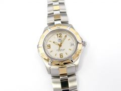 TAG Heuer 2000 Exclusive Professional Silver Dial with Solid 18k Gold WN1153.BD0341