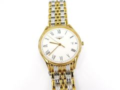 Longines Lyre Roman Numeral L4.759.2.11.7 Stainless Steel & 18k Gold