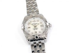 Breitling Galactic 32 Lady White Mother of Pearl & Diamonds A71356L2/A708