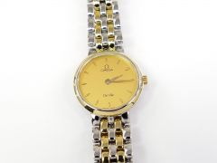 Omega De Ville Classic Champagne 7260.11.00 with Box / Papers & Solid 18k Gold
