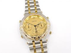 Gucci 9400 Chronograph Champagne Dial with 18k Gold