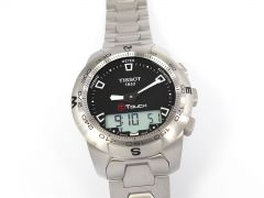 Tissot T-Touch II Black Dial Stainless Steel T047.420.11.051.00
