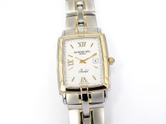 Raymond Weil Parsifal White Dial with Solid 18k Gold 9340-STG-00307